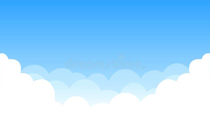 Cielo con le nubi illustrazione vettoriale