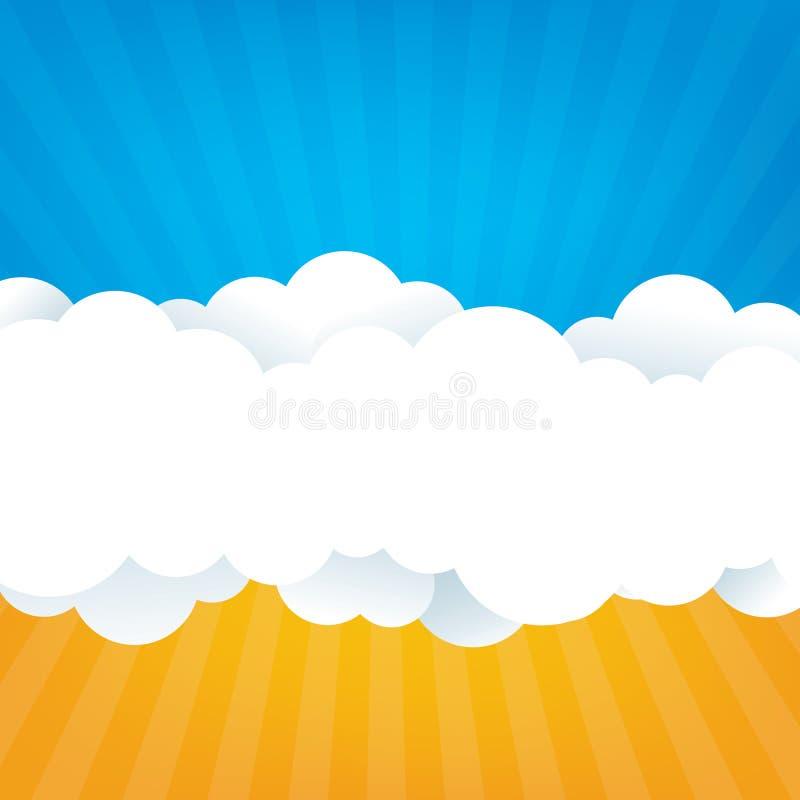 Cielo con le nuvole illustrazione di stock