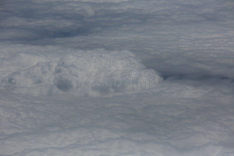 Cielo con le nuvole, immagine, fondo, scenario naturale fotografia stock