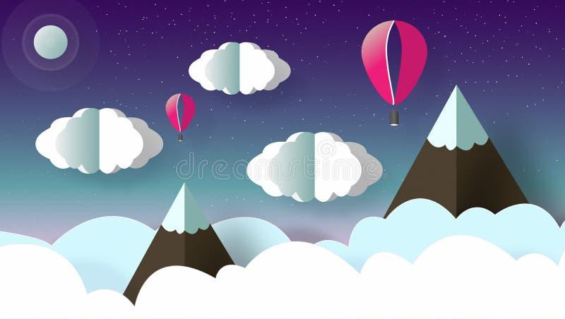 Cielo con muchas estrellas en la noche libre illustration