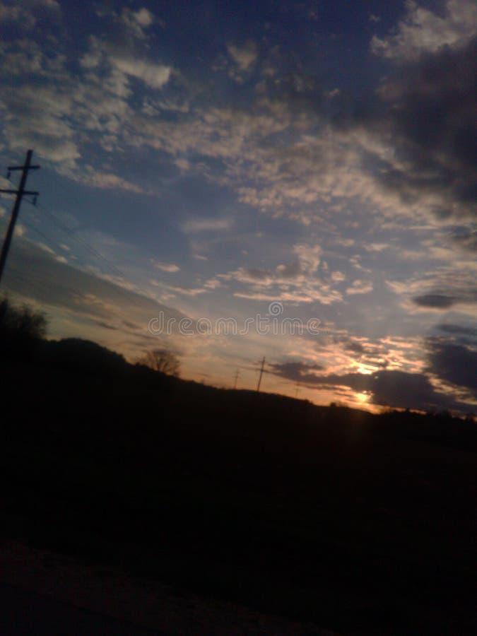 Cielo de Alabama foto de archivo