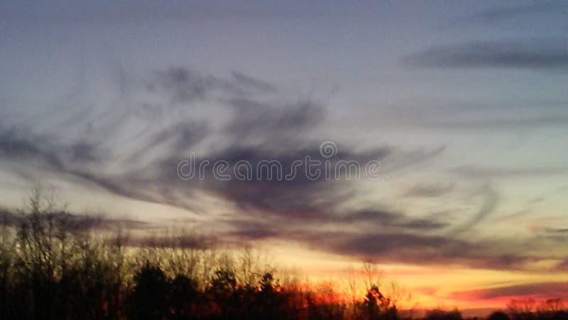 Cielo de Alabama imagen de archivo