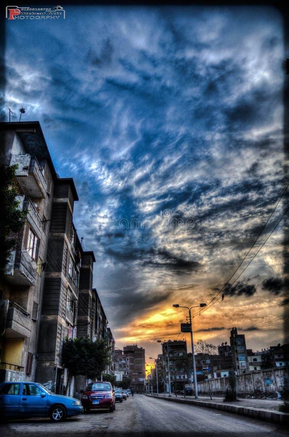 Cielo de El Cairo fotografía de archivo libre de regalías