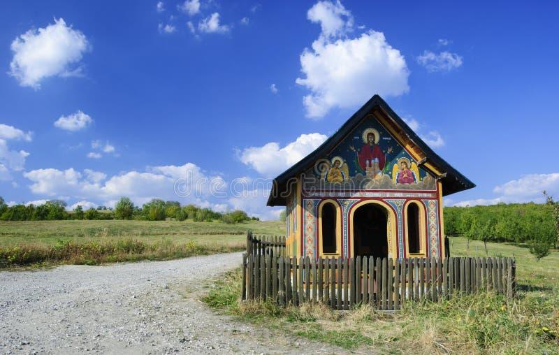 Cielo de la capilla de Rumania foto de archivo