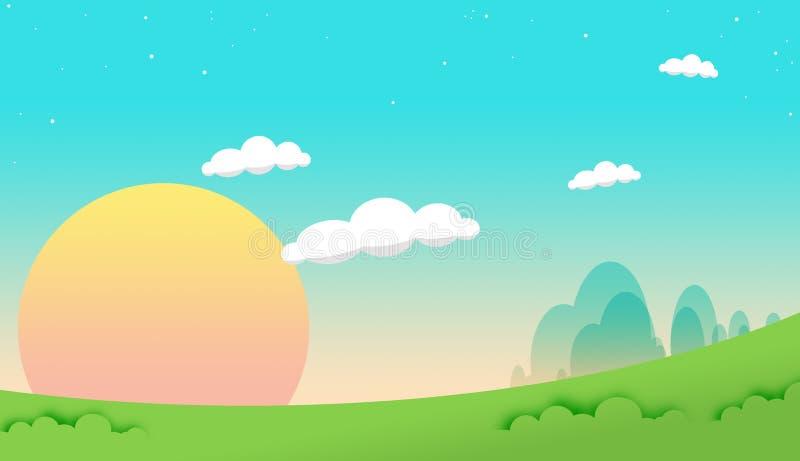Cielo de la historieta ilustración del vector