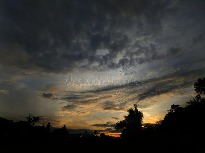Cielo de la mañana imagenes de archivo