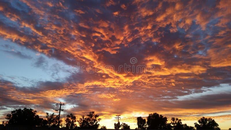 Cielo de la mañana en imán del Mt fotos de archivo libres de regalías