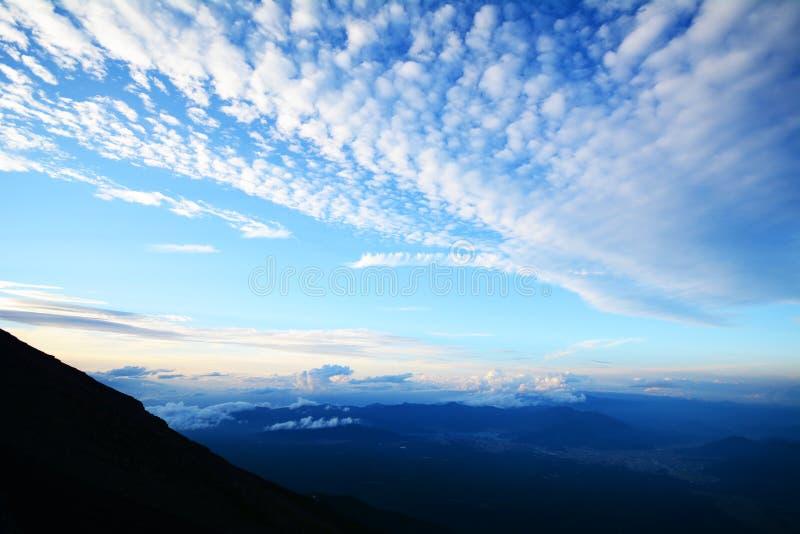 Cielo de la montaña de Fuji fotografía de archivo
