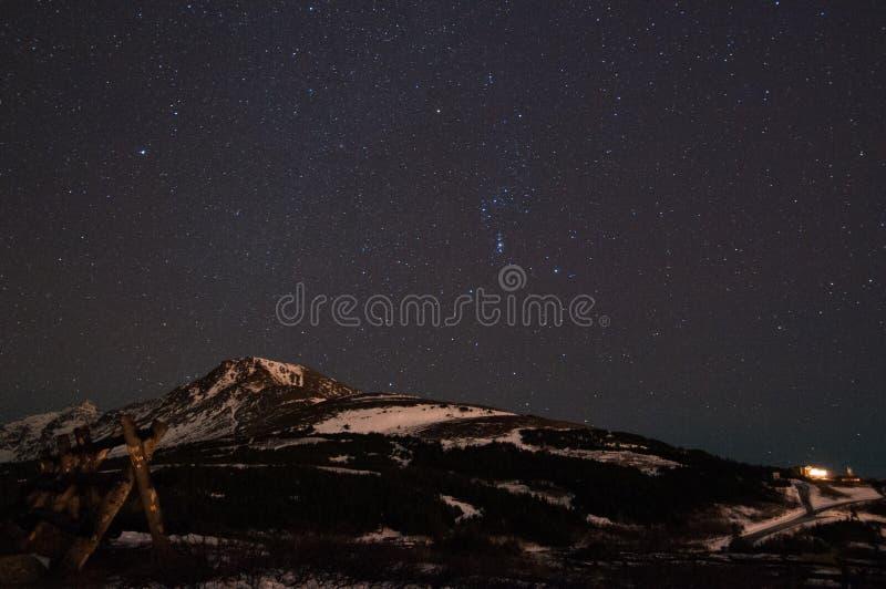 Cielo de la noche imágenes de archivo libres de regalías
