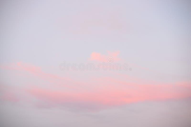 Cielo de la nube en la puesta del sol imagen de archivo libre de regalías