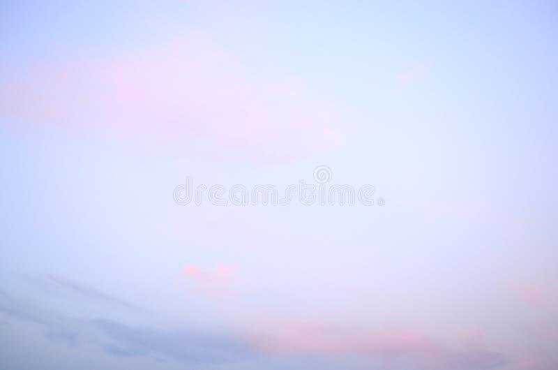 Cielo de la nube en la puesta del sol fotografía de archivo libre de regalías