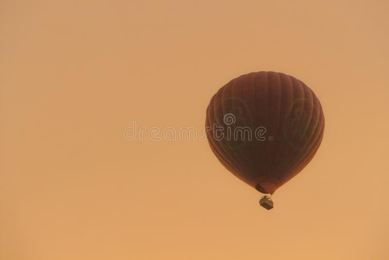 Cielo de la puesta del sol en bagan; Myanmar imágenes de archivo libres de regalías