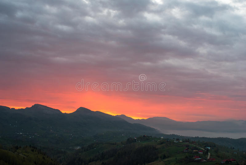 Cielo de la salida del sol fotografía de archivo