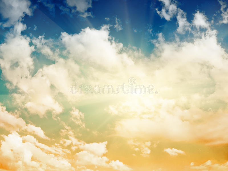 Download Cielo de la tarde foto de archivo. Imagen de verano, tropical - 42439504