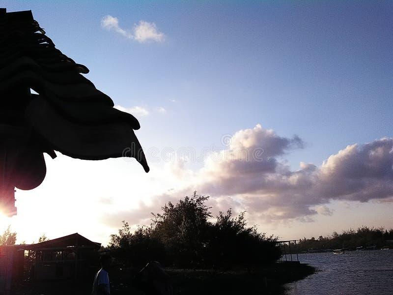 Cielo de la tarde imagen de archivo