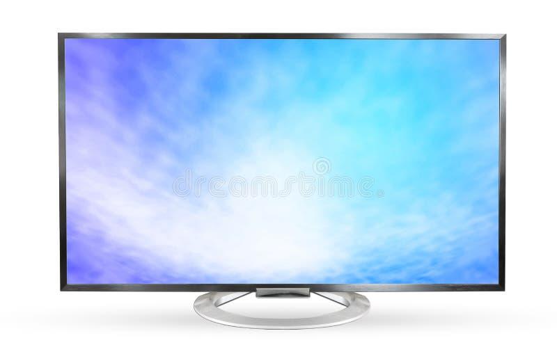 Cielo de la textura del monitor de la televisión aislado en el fondo blanco foto de archivo libre de regalías
