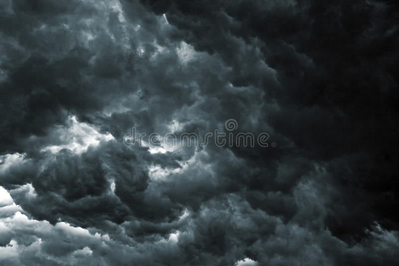 Cielo de la tormenta imagen de archivo