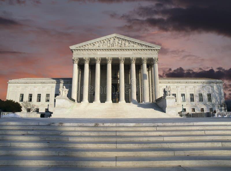 Cielo de la tormenta del claro del Tribunal Supremo imagen de archivo libre de regalías