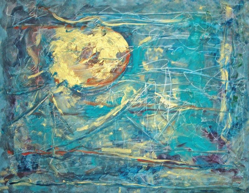 Cielo de la turquesa de Sun del oro libre illustration