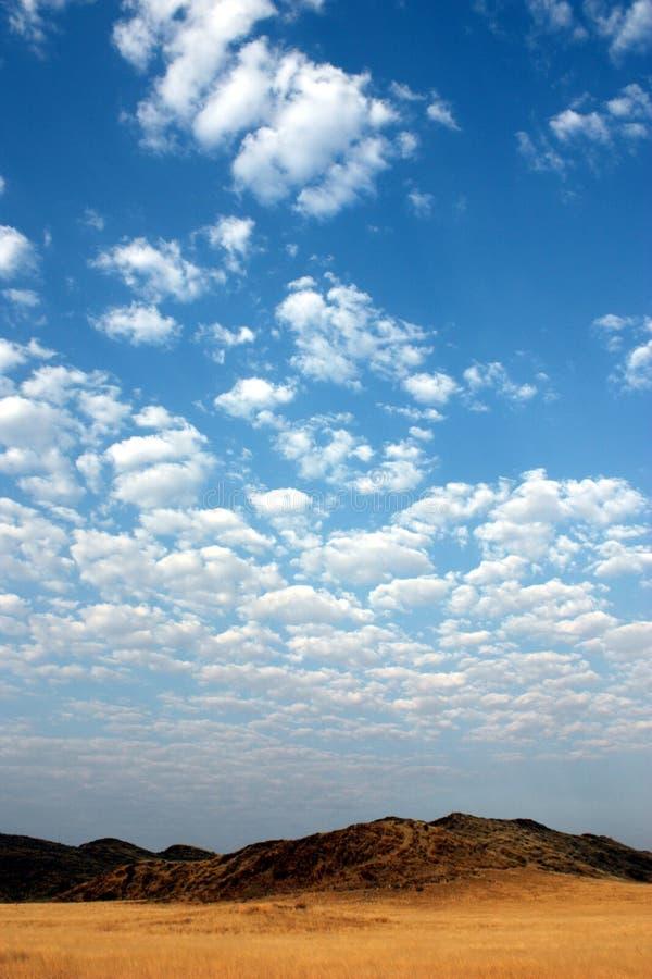 Cielo de Namibia fotografía de archivo