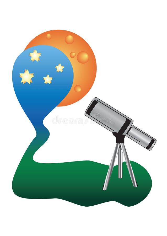 Cielo de observación del hight del telescopio libre illustration