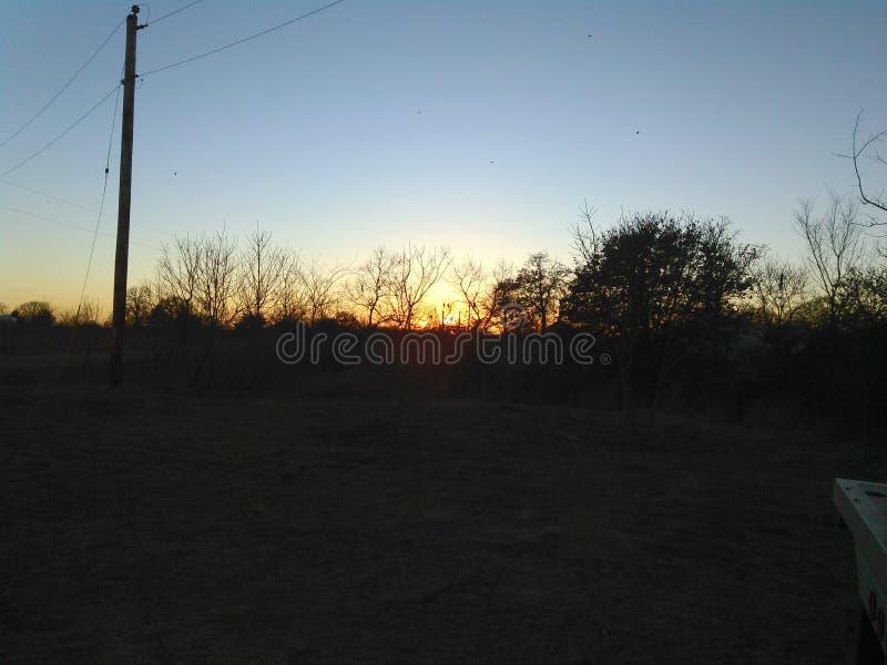 Cielo de Oklahoma imagen de archivo libre de regalías