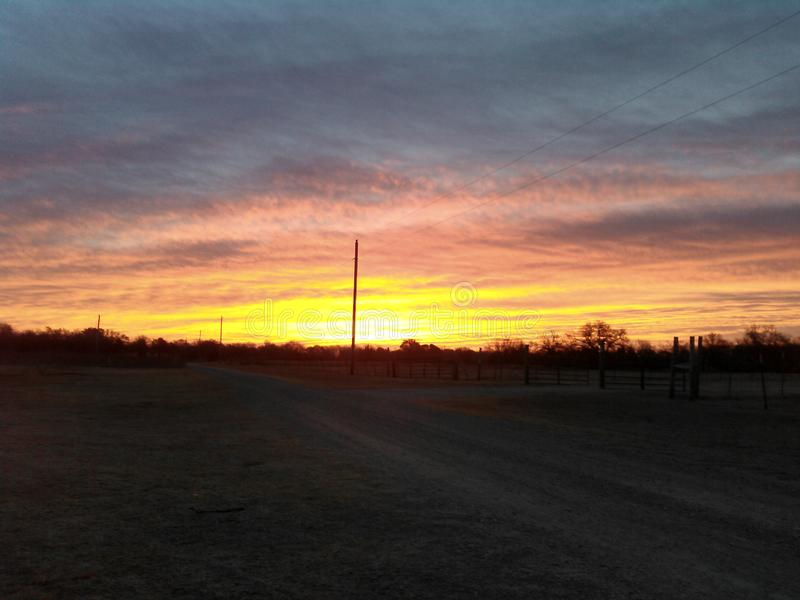 Cielo de Oklahoma fotos de archivo