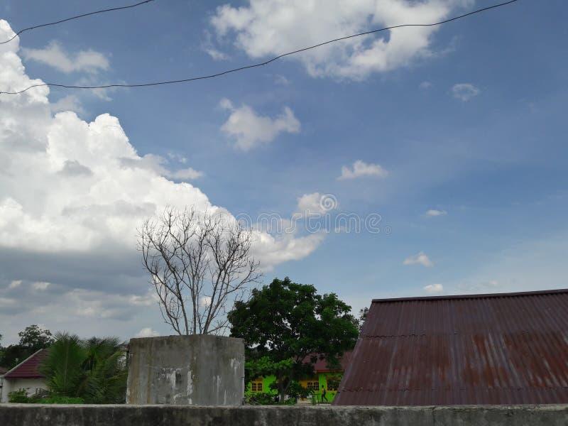 Cielo de Pekanbaru imagen de archivo libre de regalías
