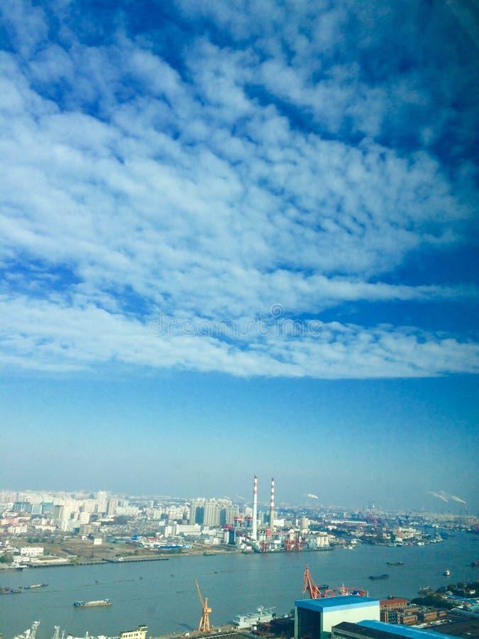 Cielo de Shangai fotos de archivo