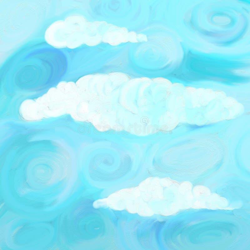 Cielo de Swirly fotografía de archivo