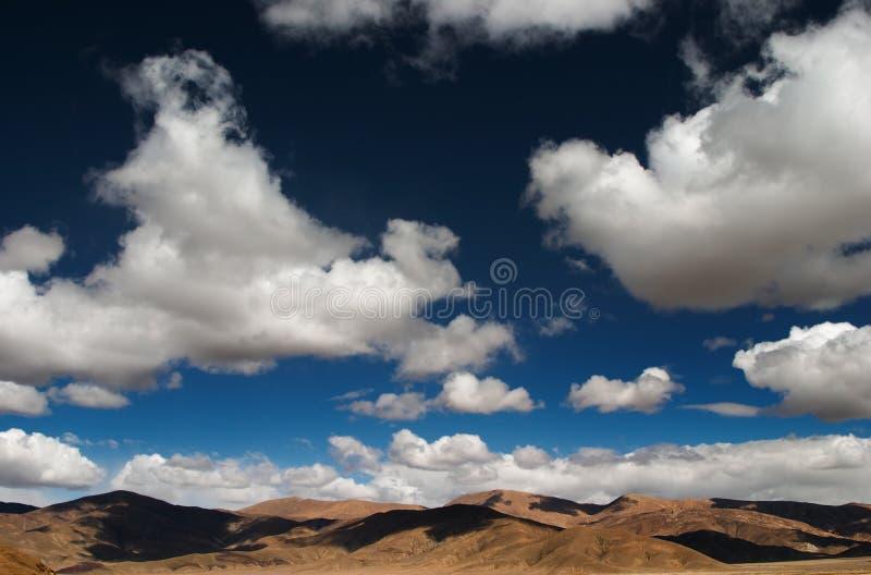 Cielo de Tíbet foto de archivo libre de regalías