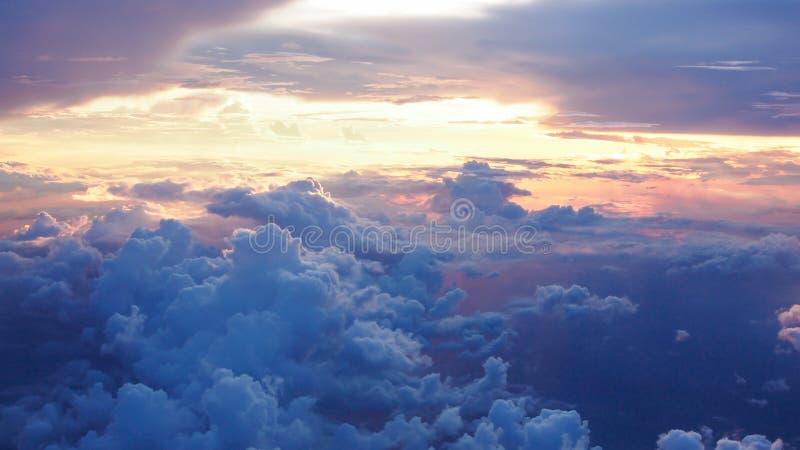 Cielo de un avión fotografía de archivo