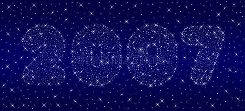 Cielo del Año Nuevo 2007 ilustración del vector