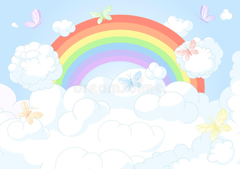 Cielo del arco iris libre illustration