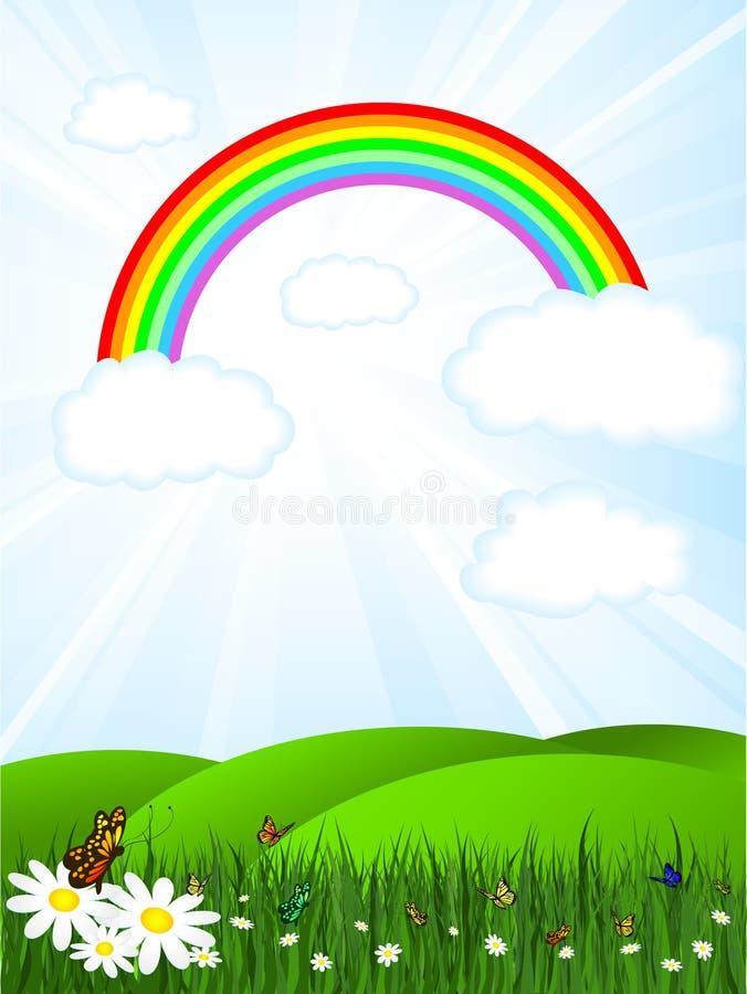 Cielo del arco iris ilustración del vector