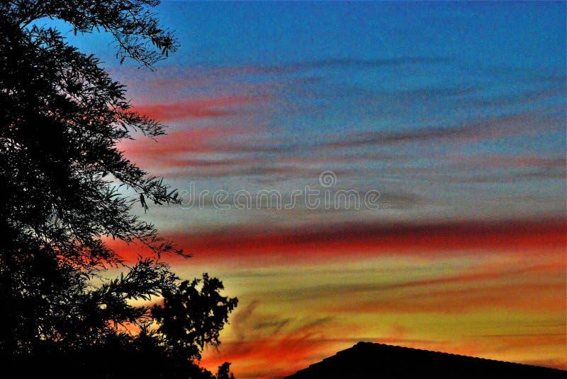 Cielo del color fotografía de archivo