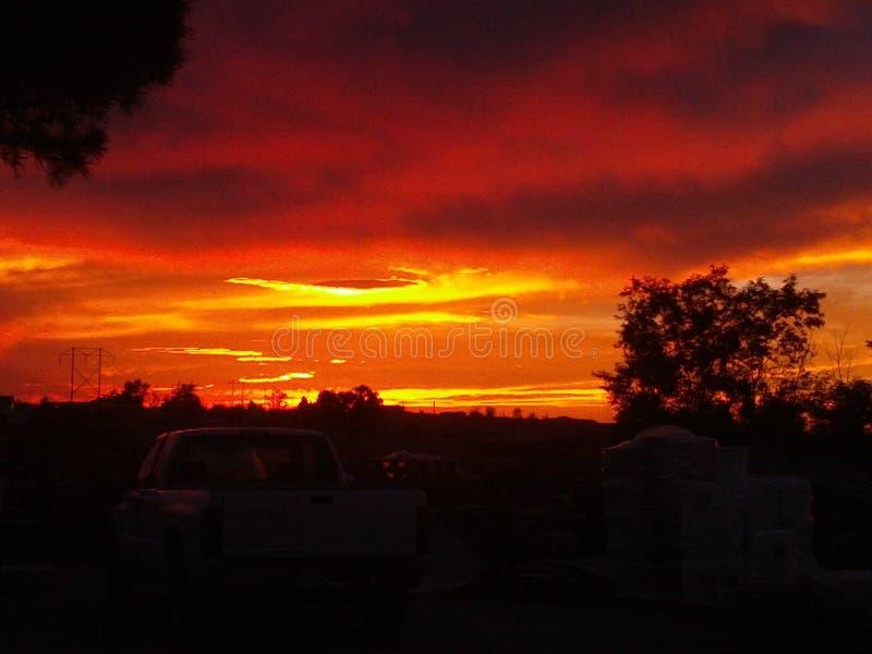 Cielo del fuego fotografía de archivo