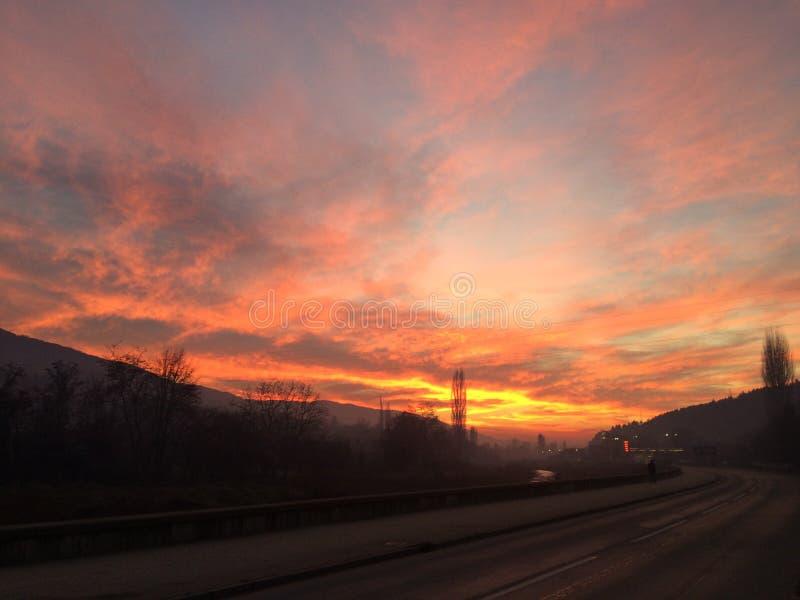 Cielo del fuego imagenes de archivo