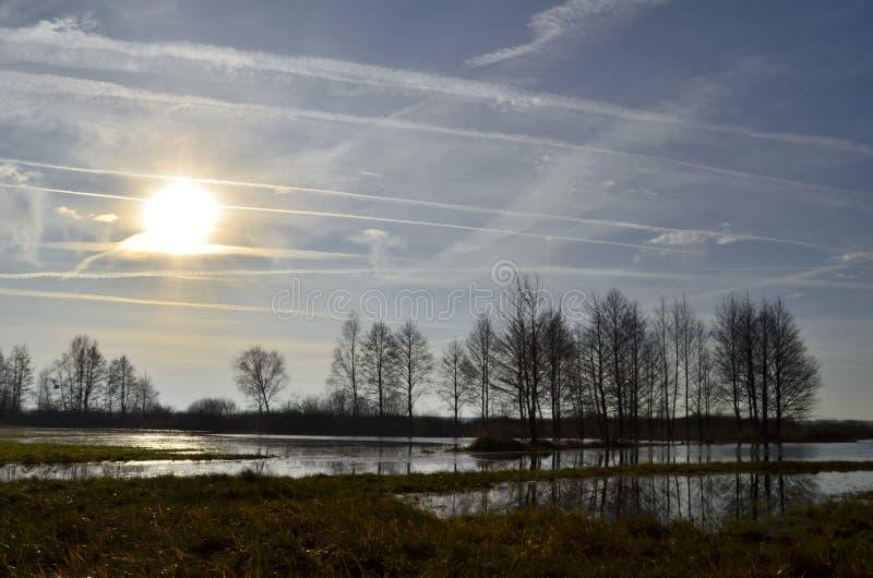 Cielo del invierno imagenes de archivo