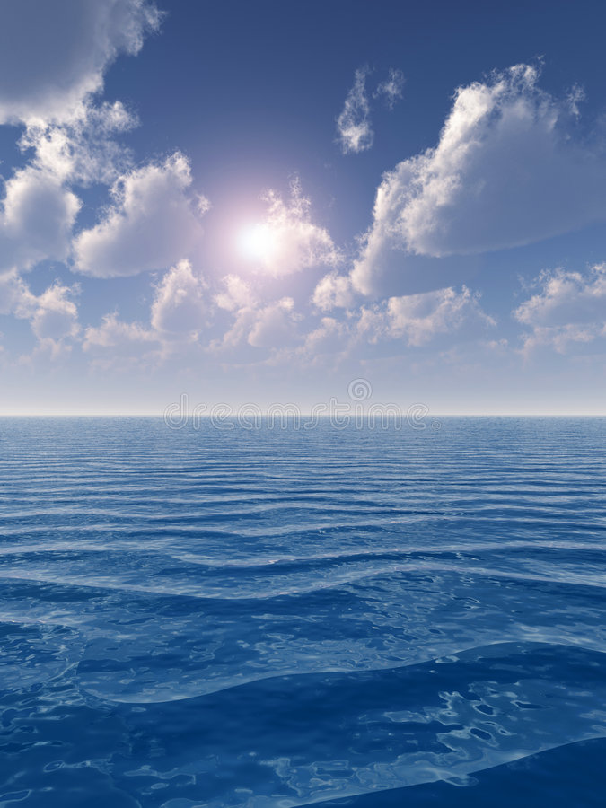 Cielo del mar ilustración del vector