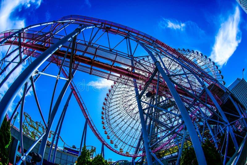 Cielo del mundo de Yokohama Cosmo y del buen tiempo foto de archivo libre de regalías
