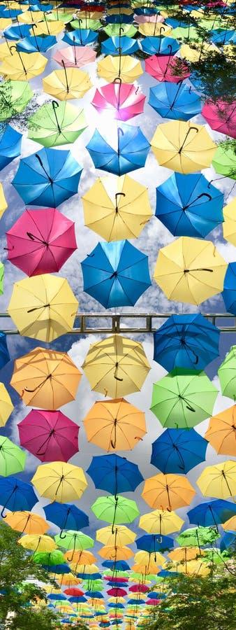Cielo del paraguas imagenes de archivo