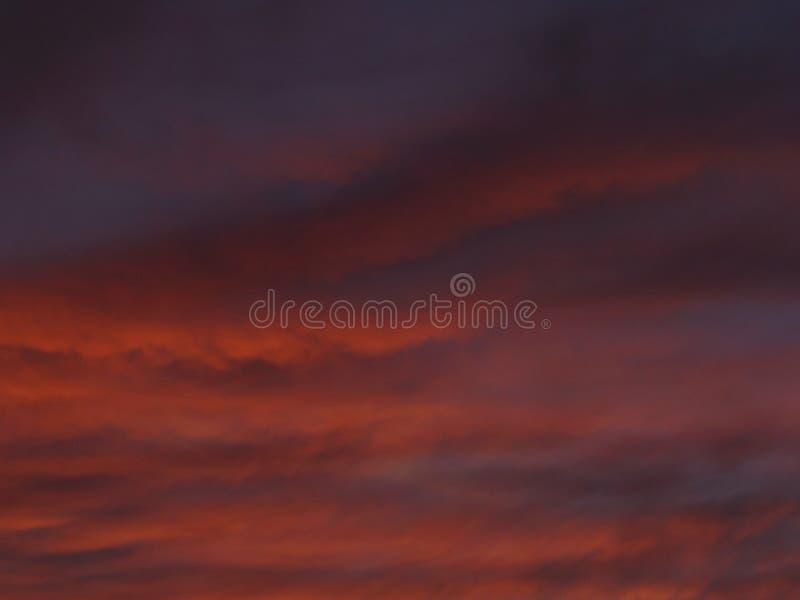 Cielo del rosa de Forerboding imagen de archivo libre de regalías