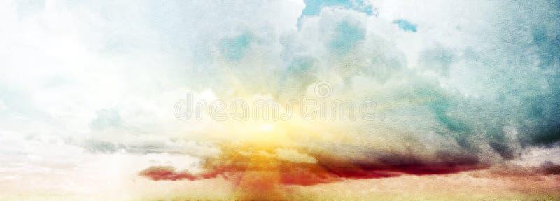 cielo del verano imagen de archivo
