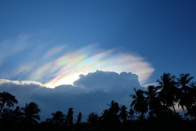 Cielo dell'arcobaleno fotografia stock libera da diritti
