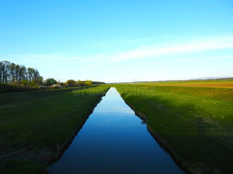 Cielo dell'erba dell'acqua della natura fotografie stock libere da diritti