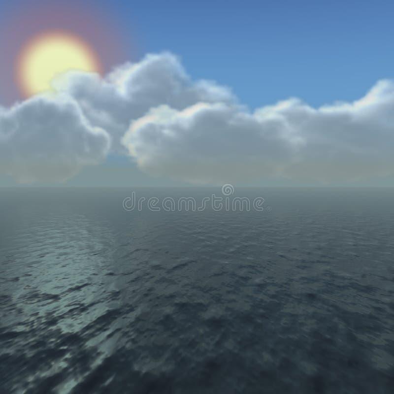 Cielo dell'oceano illustrazione di stock