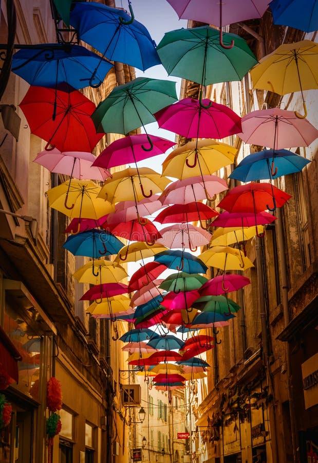 Cielo dell'ombrello immagini stock libere da diritti