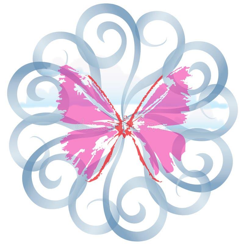 Cielo della farfalla illustrazione vettoriale