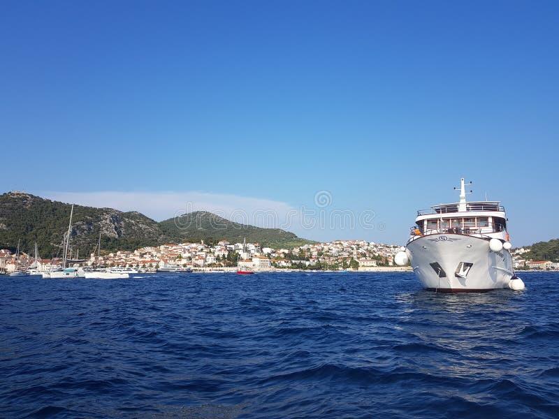 Cielo della nave di Hvar Croatian immagine stock